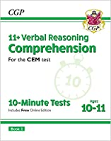11+ CEM 10-Minute Tests: Comprehension - Ages 10-11 Book 2 (with Online Edition)