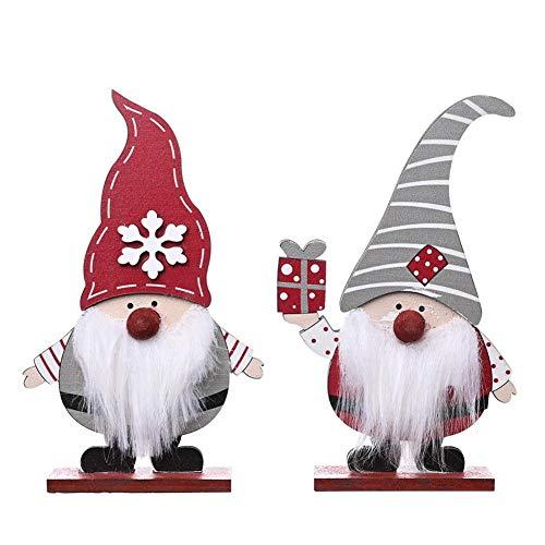 seraphicar Nani di Natale, decorazione natalizia svedese, decorazione natalizia in legno, decorazione scandinava con gnomi, giocattolo per la decorazione della tavola invernale
