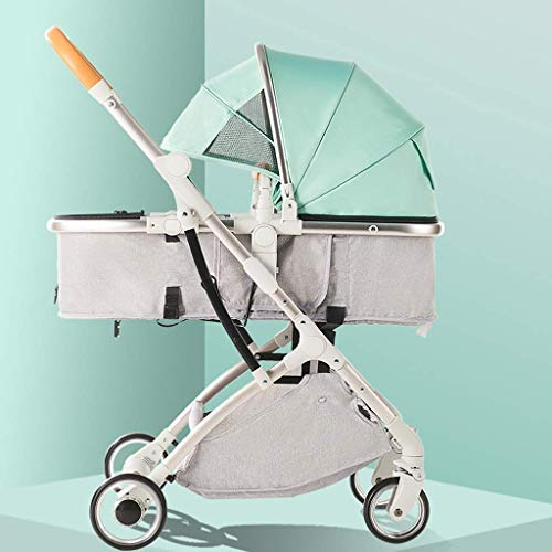Great Features Of Cozy Baby Stroller Carriage Compact Pram Stroller (Color : Pink) (Color : Green)
