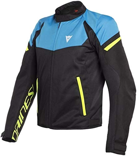 Dainese Bora Air Jacket - Black/Fire Blue/Fluo Yellow (Euro 50 / US 40)