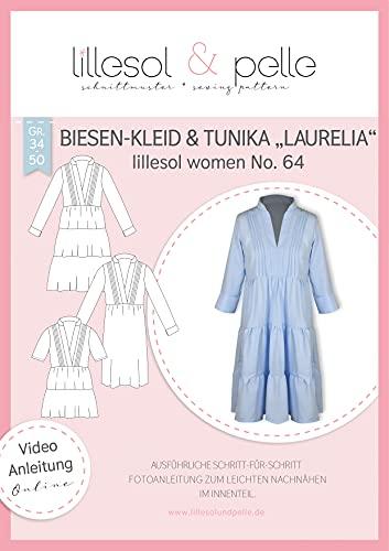 lillesol & pelle Schnittmuster lillesol Women No.64 Biesen-Kleid & Tunika Laurelia in Größe 34-50 zum Nähen mit Foto-Anleitung und Video