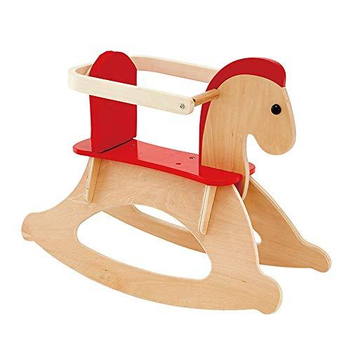 NXYJD Solid Wood Children's Rocking Horse Trojan Children's Rocking Horse Toy Rocking Chair Gift