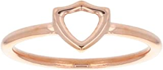 LDS Bookstore Rose Gold Open Shield CTR Ring