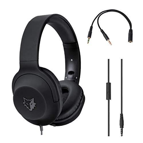 Timberwolves serie juego auriculares 7.1 estéreo auriculares auriculares plegables con micrófono asistido cómoda caja de reducción de ruido negro con AUX