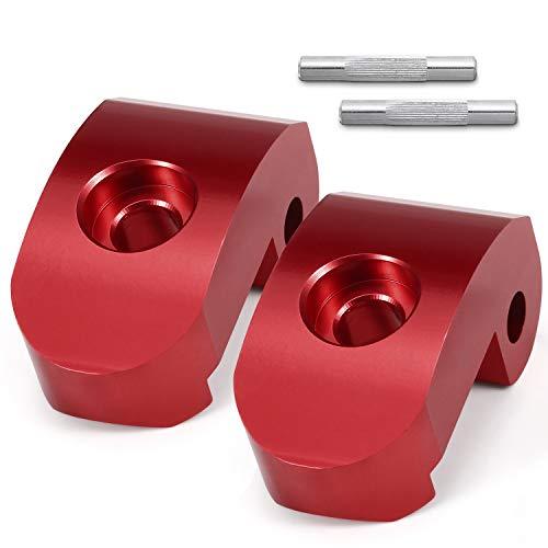 Pasador Patinete Eléctrico para Xiaomi m365/PRO, Gancho Hebilla Plegable de Reemplazo, Pestaña de Cierre Reforzada,Piezas de Scooter Aleación de Aluminio (Rojo + Rojo)