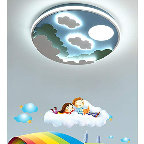 Luz de techo creativa moderna Luz de techo regulable LED Lámpara de habitación para niños con control remoto Luces de techo para dormitorio Estudio para iluminación del hogar