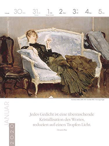 Literaturkalender Frauen lieben Lesen 2020: Literarischer Wochenkalender - 2