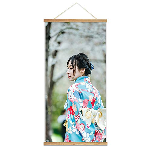 Bestdeal Depot Hanging Posters with Your Photos, Custom Canvas Prints Wall Art for Living Room, Bedroom Wooden Framed Magnet Ready to Hang 18x36 inches