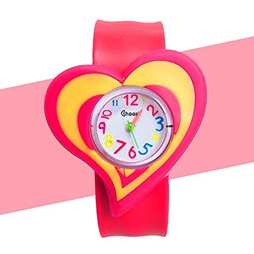 Niño Niña Amor Reloj Niños Estudiantes Reloj Niños Cuarzo Impermeable Relojes Niñas Bebé Juguete Niños Regalos de Cumpleaños relogio infantil