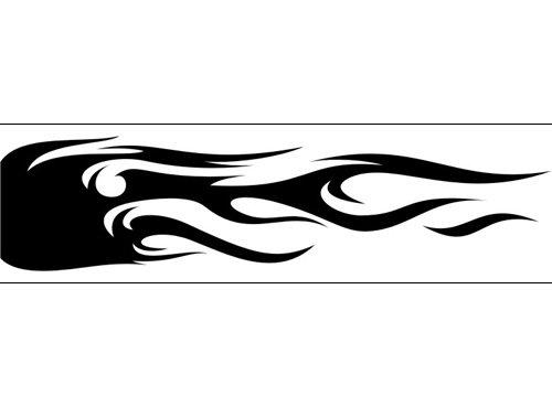 Airbrush Schablone Flammen C177