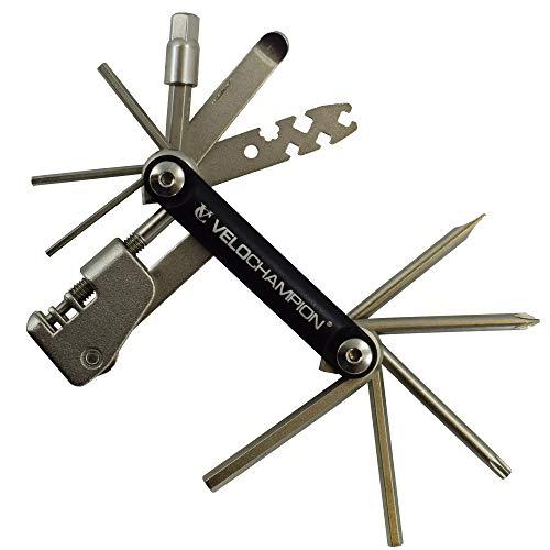 VeloChampion MLT18 Hochwertiges Multifunktionswerkzeug mit Kettennieter, 18 in 1, Wartungs- und Reparaturwerkzeug, tragbar, zuverlässig, langlebig, einfach zu benutzen.