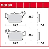 Bremsbelag TRW organischer Allround-Bremsbelag RR 125 Enduro LC CBS 4T 17-18 hinten