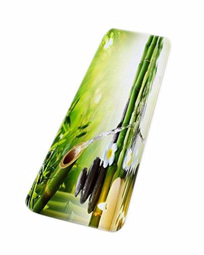 A.Monamour Yoga Zen Idea De La Meditación Bambú Verde Agua Paisaje Natural Respetuoso del Medio Ambiente Franela Alfombrillas De Baño Esteras Suelo Alfombrillas para Dormitorio