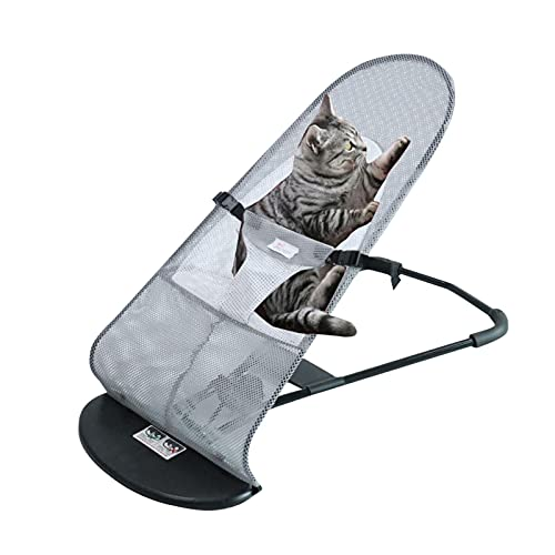 Zceplem Pet Rocking Chair Folding Rocking Bed Adjustable Folding Pet Bed ABS Material Dog Rocking Chair for Most Dogs Cats