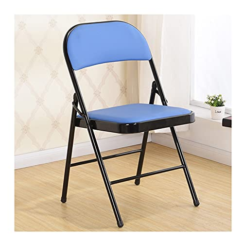 YAZHUANG8 Silla Plegable Asiento de plástico Plástico Plegable/Sillas de Acero: sillas Plegables de plástico sillas de plástico (Color : A)
