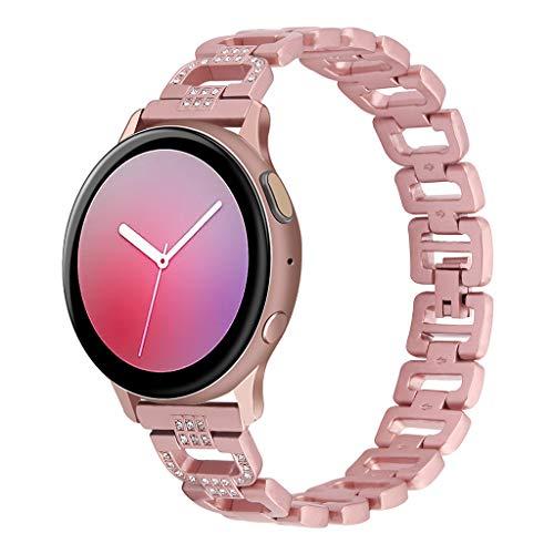 Luxus Armband Kompatible mit 𝙎𝙖𝙢𝙨𝙪𝙣𝙜 Galaxy Watch Active 2│BZLine Diamanten Ersatzband Kristall Edelstahl Strap Uhrenarmband Watchband Sportarmband Armbänder│Armband Zubehör für Damen