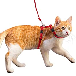 WESEEDOO Cat Harness And Leash Set Adjustable Cat Leash Is Easy To Use And Suitable For Cats The Most Important Thing Is To Protect Your Pet