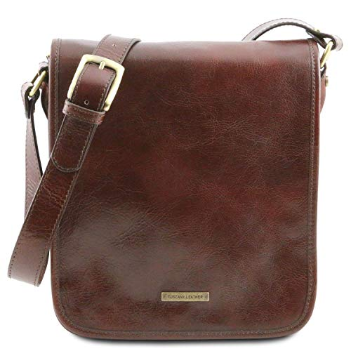 Tuscany Leather TL Messenger Borsa a tracolla 2 scomparti Marrone