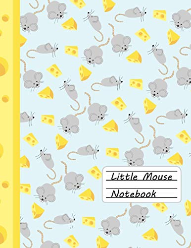 Little Mouse Notebook - Primary Composition Notebook For Kids (Story Journal): Drawing Space and Lined Paper with Dotted Midline (light blue): School Exercise Book - Learn To Draw And Write
