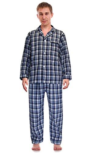 RK Conjunto de pijama de paño tejido clásico para hombre