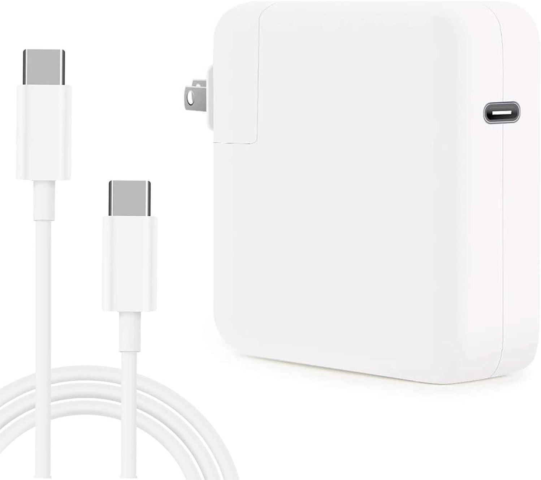 YIESERRA 87W USB C Charger Power Adapter for Mac Pro 13,15 inch, New Mac air 13 inch 2018/2019/2020, iPad Pro 12.9, 11, Thunder Bolt 3 Power Supply