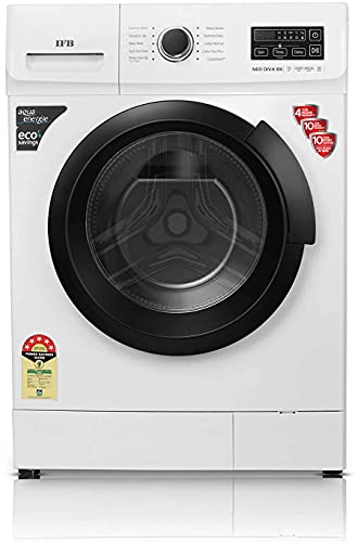 IFB 7 Kg 5 Star Fully-Automatic Front Loading Washing Machine (Neo Diva BX, White, 3D Wash...