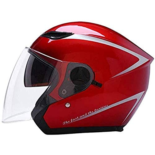 ZHANG Casco Portátil Motocicleta Eléctrica Hombres Y Mujeres Four Seasons Universal Windproof Warm,A