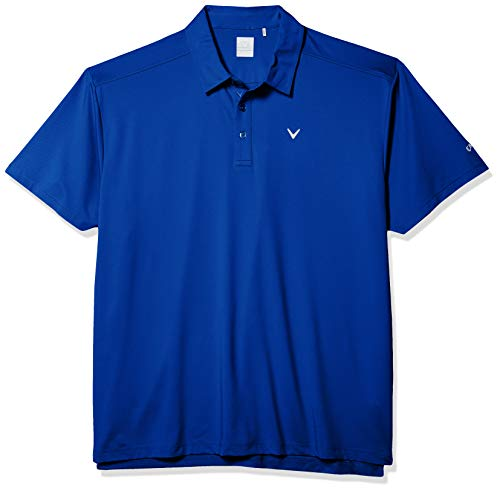 Callaway Micro Hex Solid Short Sleeve Golf Polo Shirt, Multicolor (Surf The Web), XXL Largo para Hombre