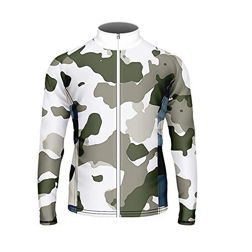 WAWNI Langarm-Radtrikot, Camouflage-Muster, stylisch, für Herren XX-Small V07079