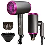 Professional Ionic Hair Dryer 1800 Watt Blow Dryer with Diffuser and Concentrator Nozzles
