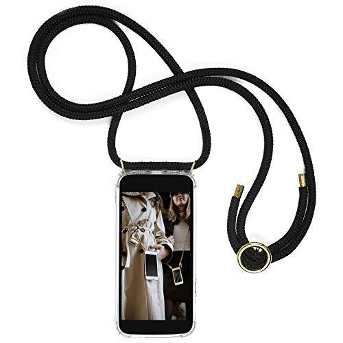 Jalouza Handykette kompatibel mit Apple iPhone 11, Kordel in Schwarz mit Handy Hülle zum Umhängen, Phone Necklace Made in Berlin