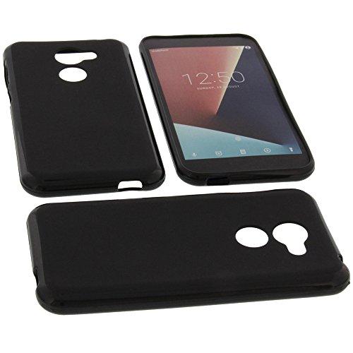 foto-kontor Tasche für Vodafone Smart N8 Gummi TPU Schutz Handytasche schwarz