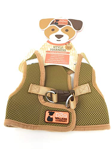 The dog walker company Reflector Accent Harness | Medium 10-15 Lbs | Brown