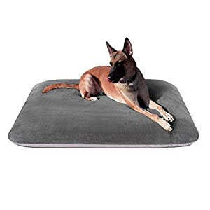 Magic Dog Extra Large Dog Bed Orthopedic Pet Beds 47 Inch Jumbo Crate Pad Mat Washable Anti Slip Dog Sleeping Mattress with Removable Cover, Grey Purple XL