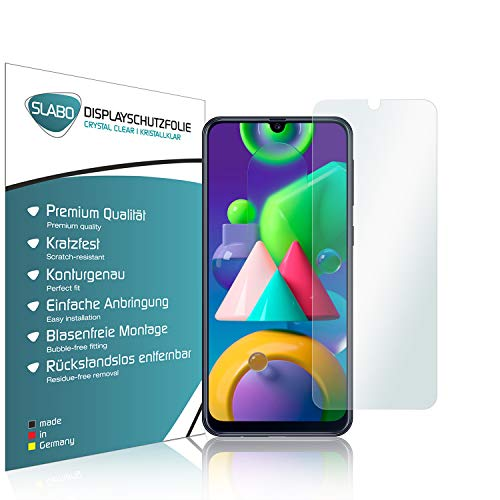 Slabo 4 x Bildschirmschutzfolie für Samsung Galaxy A20 (2019)   A30 (2019)   A30s   A40s   A50 (2019)   A50s   M30   M30s Bildschirmfolie Schutzfolie Folie Zubehör Crystal Clear KLAR