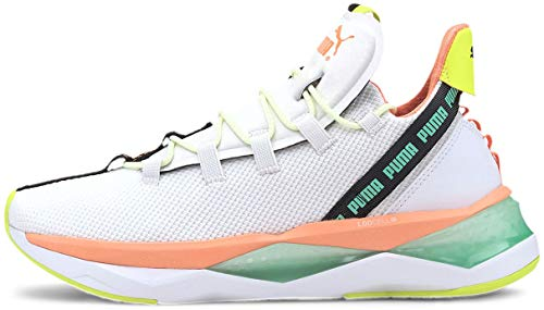 Puma - Womens Lqdcell Shatter Tr Shoes, Size: 6 B(M) US, Color: Puma White/Fizzy Orange/Green Glimmer