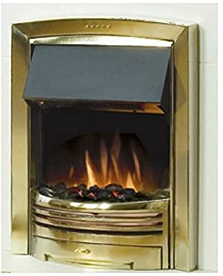 Dimplex Adagio Brass 2kw Electric Inset Fire c/w Coal and Pebbles Option