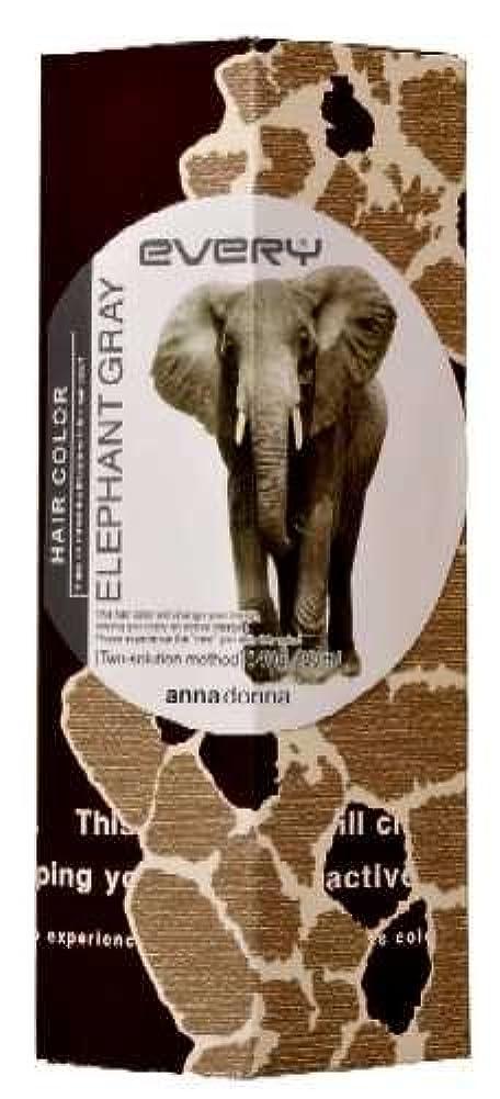 販売員シャワー味付けアンナドンナ エブリ ヘアカラー (エレファントグレー) 1剤40g 2剤80ml 【HTRC5.1】
