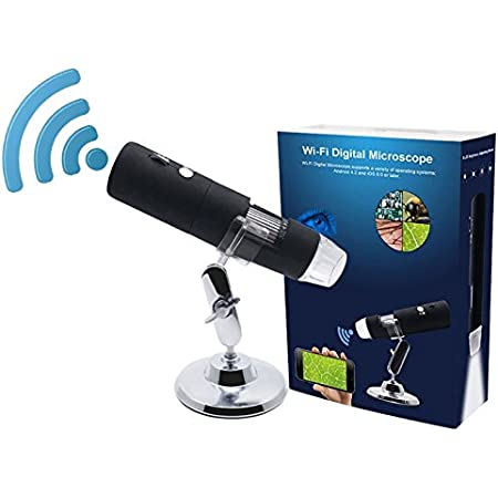 CT-CT Magnifier 800X Microscopes HD USB Digital Microscope 2MP CMOS 8LEDs Adjustable Science Dermatology Optical Magnifier with Stand Holder Reading Magnification : 800X
