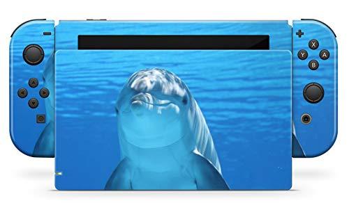 Skins4u Aufkleber Design Schutzfolie Vinyl Skin kompatibel mit Nintendo Switch Konsole & Controller Dolphin