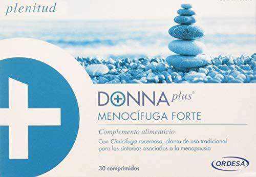 DonnaPlus Menocífuga Forte, 30 comprimidos, complemente alimentcio para la mujer en la menopausia. Cimicifuga racemosa, melisa y vitaminas K2, D3, B6, B9 y B12. 1 comprimido al día.