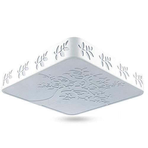 LED moderne creux arbre sculpté plafonnier rond montage carré surface LED lampe de plafond en option pour la maison salon luminaire@Lumière blanche