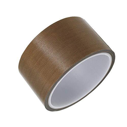 Teflon-Klebeband für Vakuumiermaschine, Hand- oder Impuls-Versiegelungsgerät (10 mm/13 mm/19 mm/25 mm/50 mm/100 mm x 10 m), PTFE-Klebeband, passend für FoodSaver, Seal A Meal, Weston, Cabella's