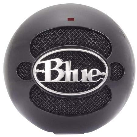 (Renewed) Blue Snowball USB Microphone - Stand Not Included - Gloss Black