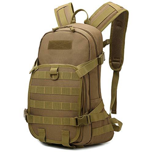 RUINUO Tactical Backpack Wasserdichter Nylon-Militärrucksack Molle Wanderrucksack für Camping Trekking Outdoor Cycling, Khaki
