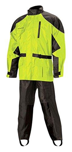 Nelson Rigg Unisex-Adult AS-3000-HVY-07-4XL Aston Motorcycle Rain Suit 2-Piece, (Hi-Visibility Yellow, XXXX-Large), 4X