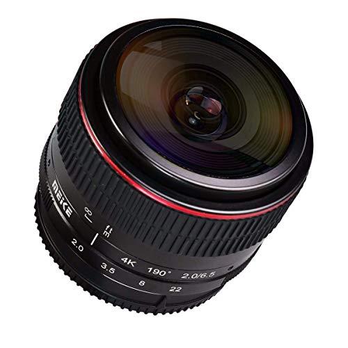 Meike MK-6.5mm F2.0 - Lente ojo de pez para cámara Canon EF-M Mount