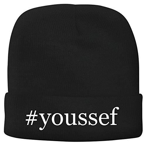 BH Cool Designs #Youssef - Men's Hashtag Soft & Comfortable Beanie Hat Cap, Black, One Size