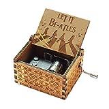 Evelure Cajas de música de los Beatles, Cajas de música de Madera talladas a Mano Antiguas para cumpleaños Infantiles (B-Wood)