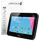 Celicious Vivid Invisible Glossy HD Screen Protector Film Compatible with BLU Touch Book 7.0 Lite [Pack of 2]